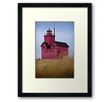 The Lighthouse Big Red in Holland Michigan No 0153 Framed Print