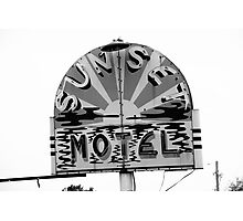 Route 66 - Sunset Motel Photographic Print