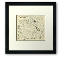 September 13 1944 World War II Twelfth Army Group Situation Map Framed Print
