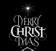 Merry Christmas Religious Christian Calligraphy Christ Mas Chalkboard Jesus Nativity by 26-Characters