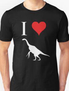 I Love Dinosaurs - Therizinosaurus (white design) T-Shirt