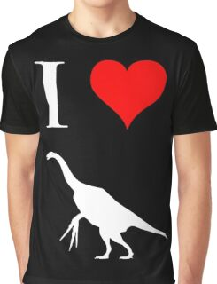 I Love Dinosaurs - Therizinosaurus (white design) Graphic T-Shirt