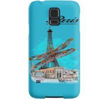 Paris Eiffel under attack dragonfly  unique vintage gifts  Samsung Galaxy Case/Skin