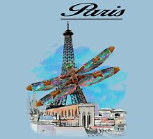 Paris Eiffel under attack dragonfly  unique vintage gifts  Unisex T-Shirt