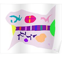 Various Things Abstract Art Poster