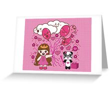 Kelly Party & Friend ( KAWAII DESIGN) Greeting Card