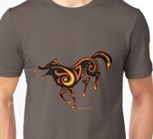 Fire Dog Dance (dark colours) Unisex T-Shirt