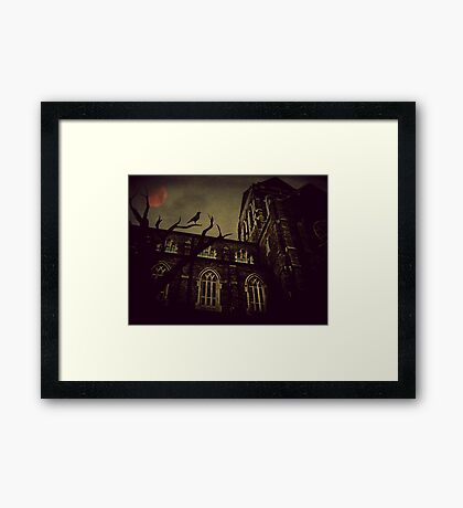 Haunted Honeymoon Framed Print