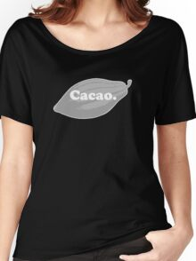 cacao. Women's Relaxed Fit T-Shirt
