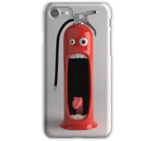 Even the fire extinguisher is shocked! iPhone Case/Skin
