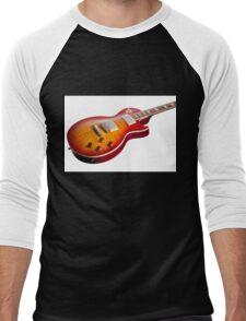 Les Paul Guitar Cherry Sunburst Men's Baseball ¾ T-Shirt