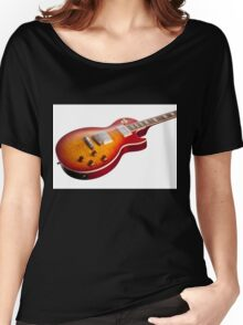 Les Paul Guitar Cherry Sunburst Women's Relaxed Fit T-Shirt