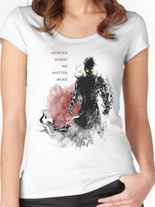 Dry Spell - Black Baron  Women's Fitted Scoop T-Shirt