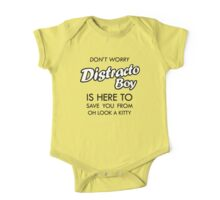 Distracto Boy Is Here! Oh Look A Kitty One Piece - Short Sleeve