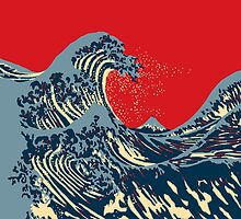 The Great Hokusai Wave Hope Election Style by Garaga