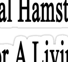 My Wife Doesn't Heal Hamsters For A Living She Does It For Fun Sticker