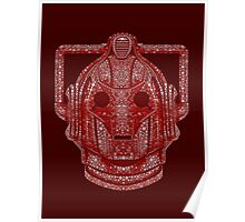 Snowflake Cyberman - Berry Red Poster
