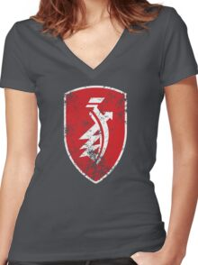Distressed classic Zündapp emblem Women's Fitted V-Neck T-Shirt