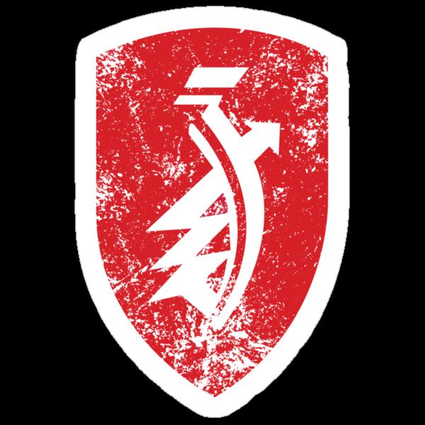 Distressed classic Zündapp emblem by Robin Lund