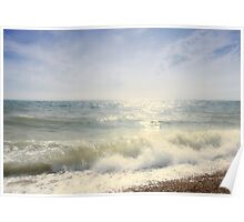 Surf at Dungeness Poster