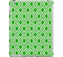 Modern Classic Green Pattern iPad Case/Skin