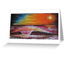 Surf Sunset Greeting Card