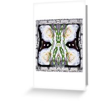 Fly with roses and wings into freedom Greeting Card