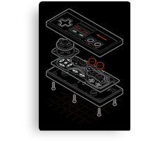 Blueprint Famicom Canvas Print
