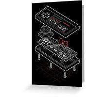 Blueprint Famicom Greeting Card