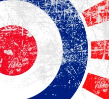 Grunge Mod Target Roundel Japan Sunburst Sticker