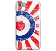 Grunge Mod Target Roundel Japan Sunburst iPhone Case/Skin