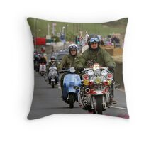Scooters on the Seafront Throw Pillow