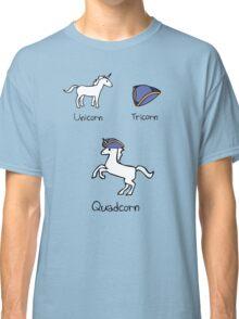 Unicorn + Tricorn = Quadcorn Classic T-Shirt
