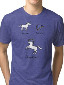 Unicorn + Tricorn = Quadcorn Tri-blend T-Shirt