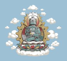 """Mr. Ohmz"" the Buddha Bot v6 Kids Tee"