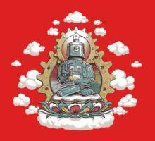 """Mr. Ohmz"" the Buddha Bot v6 Kids Tee"