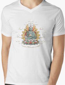 """Mr. Ohmz"" the Buddha Bot v6 Mens V-Neck T-Shirt"