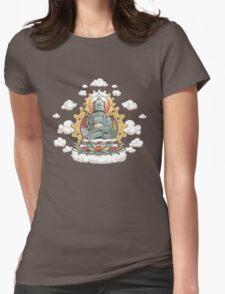 """Mr. Ohmz"" the Buddha Bot v6 Womens Fitted T-Shirt"
