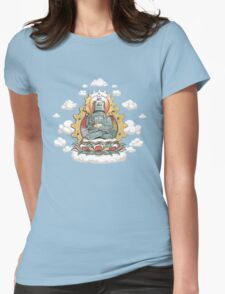 """Mr. Ohmz"" the Buddha Bot v6 Womens Fitted T-Shirt"