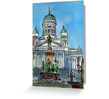 Finland Helsinki Lutheran Cathedral Greeting Card