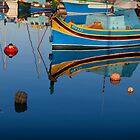 Reflection at Marsaxlokk by Christian  Zammit