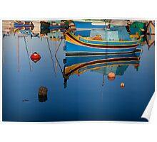 Reflection at Marsaxlokk Poster