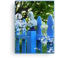 Fence Post Bust, Lady Holding Canvas Print