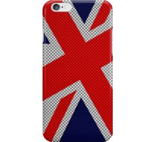Union Jack on Carbon Fiber Style Print iPhone Case/Skin
