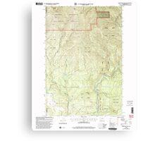 USGS Topo Map Washington State WA Bobs Mountain 240136 2000 24000 Canvas Print