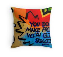 You Don't Make Friends With Giant Squids Throw Pillow