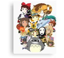 Studio Ghibli Collage Canvas Print