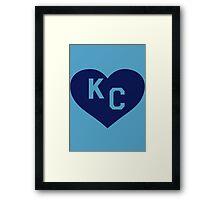 Paul Rudd Heart KC-Kansas City-Royals Framed Print