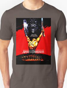 Army Of Darkness 80's Red and Black Design T-Shirt