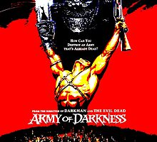 Army Of Darkness 80's Red and Black Design by PrettyStuff